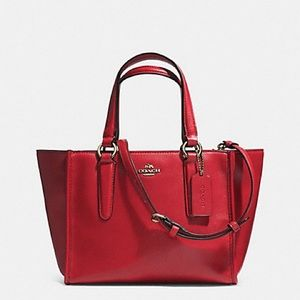Coach Crosby Mini Red Leather Crossbody Tote